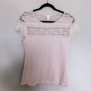 H&M Lace Tee